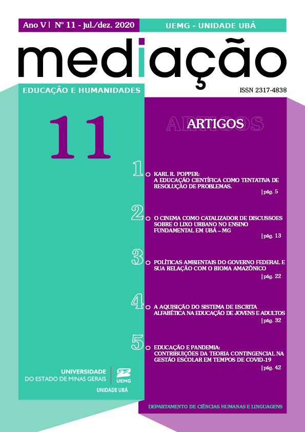 Visualizar n. 11 (): Revista Mediação | jul./dez. 2020